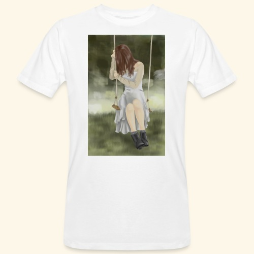 Sad Girl on Swing - Men's Organic T-Shirt
