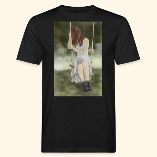 Sad Girl on Swing - Men's Organic T-Shirt