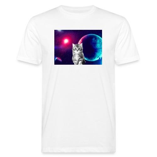 Cute cat in space - Miesten luonnonmukainen t-paita