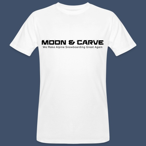 Moon & Carve black - Männer Bio-T-Shirt