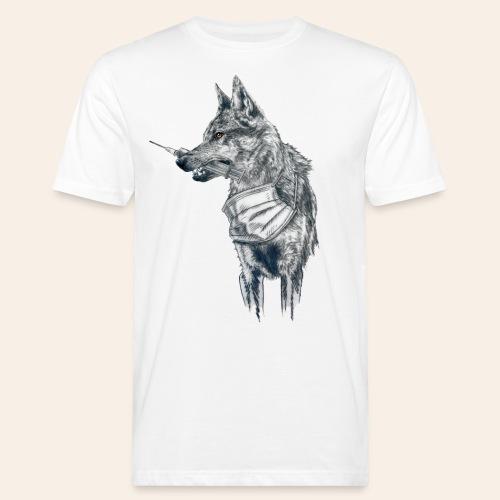 Corona Wolf - Männer Bio-T-Shirt