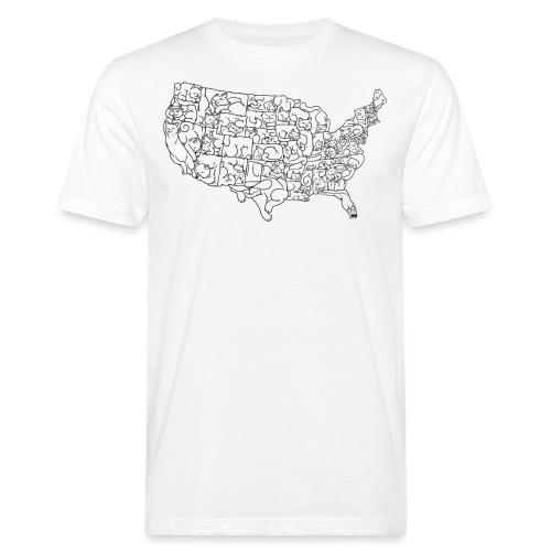 UNITED CATS OF AMERICA - Ekologiczna koszulka męska