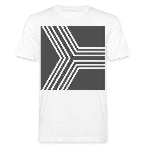 BANDES BLANC/GRIS - T-shirt bio Homme