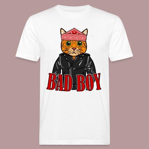 Bad boy chat roux rockeur - T-shirt bio Homme