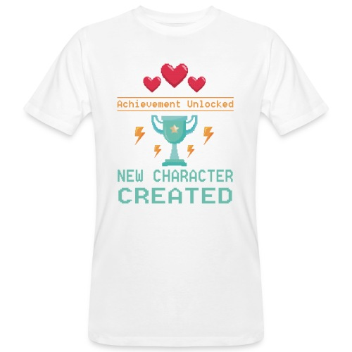Achievement Unlocked New Character Created - Männer Bio-T-Shirt