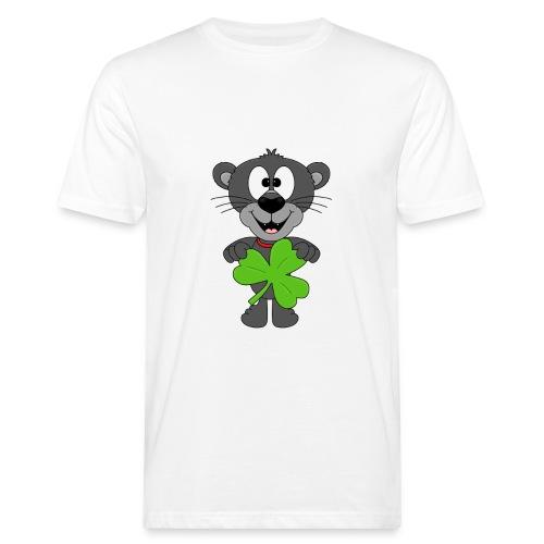 Lustiger Panther - Kleeblatt - Tier - Kids - Fun - Männer Bio-T-Shirt