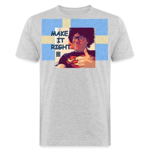 Fred - Make It Right Sweden Flag - Männer Bio-T-Shirt