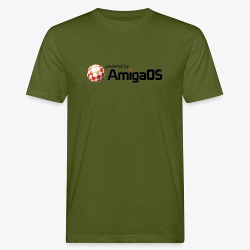 PoweredByAmigaOS Black - Men's Organic T-Shirt