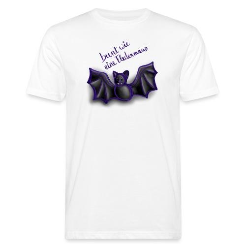 bunt wie eine Fledermaus - Männer Bio-T-Shirt