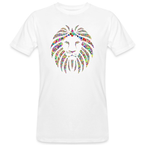 Ausdruck des Löwen - Männer Bio-T-Shirt