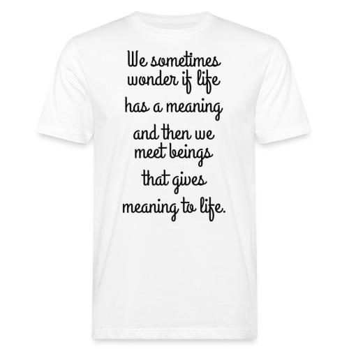 Phrase d'amour en anglais - T-shirt bio Homme