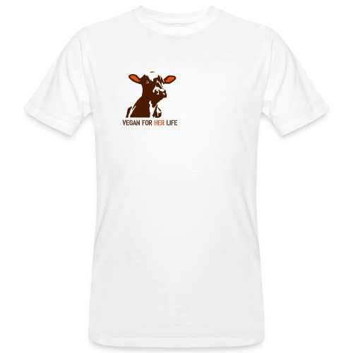 vegan for her life - Männer Bio-T-Shirt
