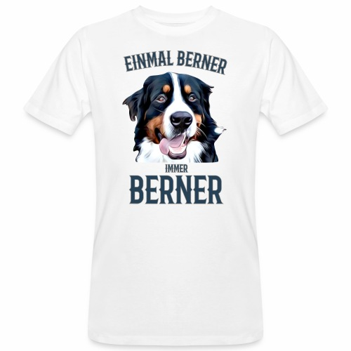 Berner Sennenhund Bern Geschenk Hundehalter - Männer Bio-T-Shirt