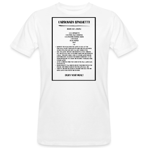 Carbonara Spaghetti - T-shirt ecologica da uomo