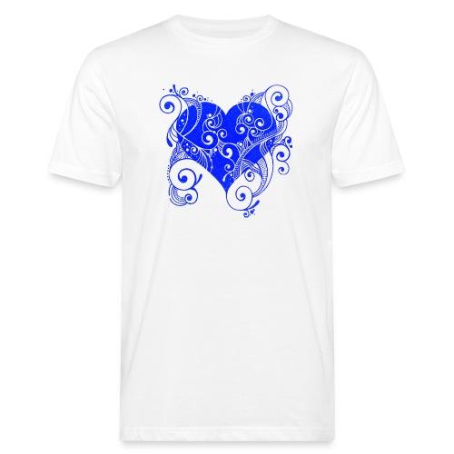 Herz in blau - Männer Bio-T-Shirt