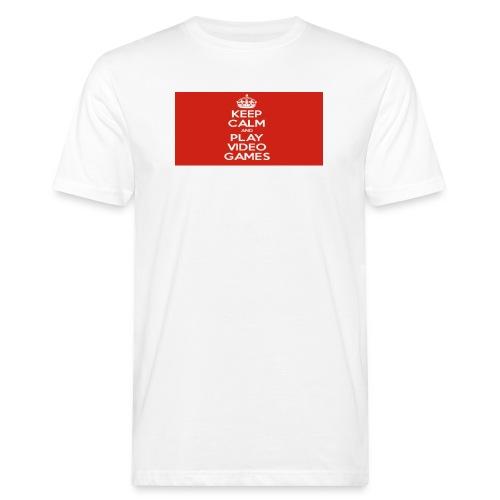 play does games - Økologisk T-skjorte for menn