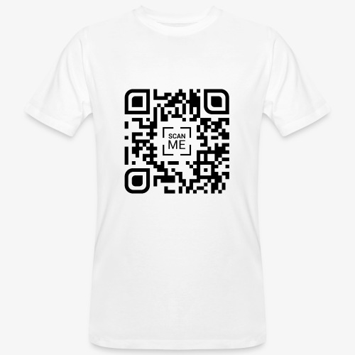 QR code (black) - Men's Organic T-Shirt