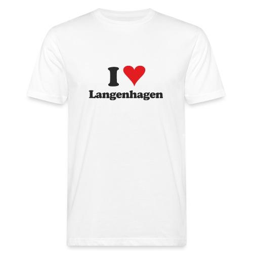 I Love Langenhagen - Männer Bio-T-Shirt