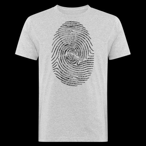 Tintenfisch Fingerabdruck schwarz - Männer Bio-T-Shirt