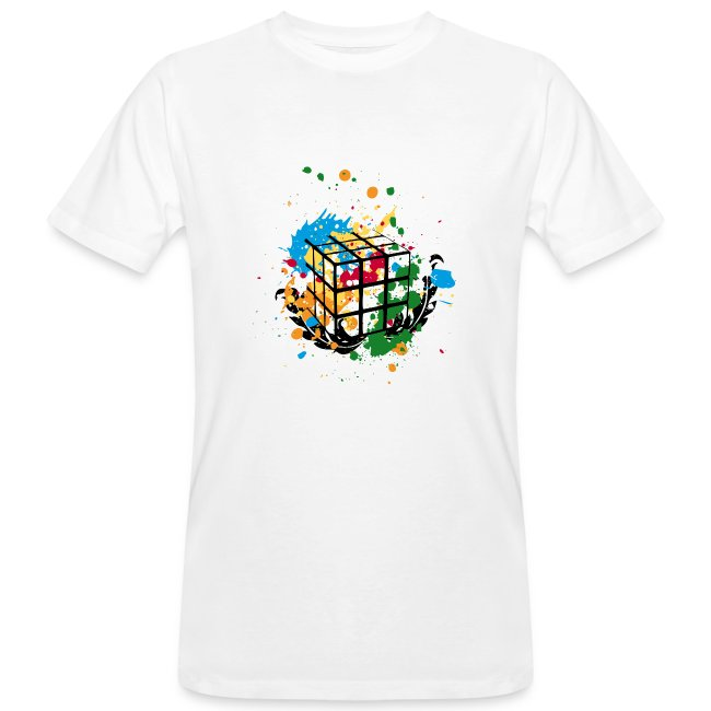 Rubik's Cube Colourful Splatters
