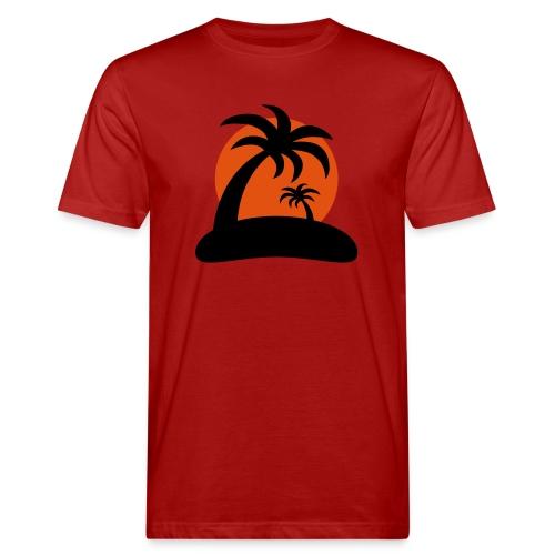 palm island sun - Mannen Bio-T-shirt