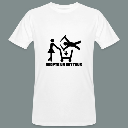 Adopte un batteur - idee cadeau batterie - T-shirt bio Homme