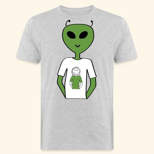 Alien human T-shirt T-shirt - Ekologisk T-shirt herr