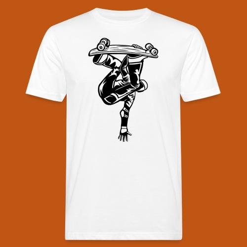 Skater / Skateboarder 03_schwarz - Männer Bio-T-Shirt