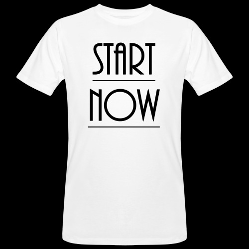 start now - Männer Bio-T-Shirt