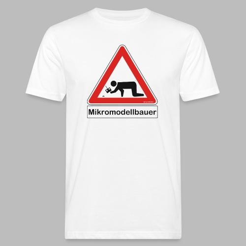 Warnschild Mikromodellbauer Auto - Männer Bio-T-Shirt