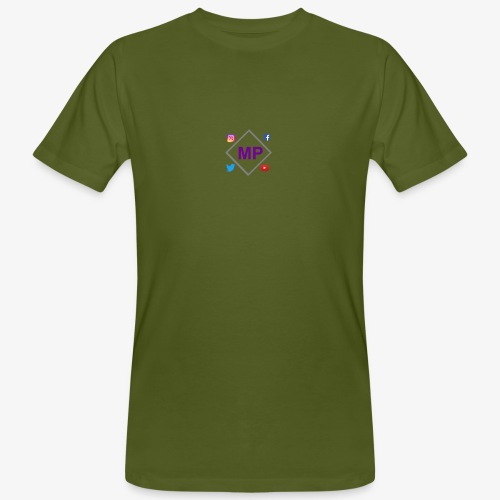 MP logo with social media icons - Men's Organic T-Shirt