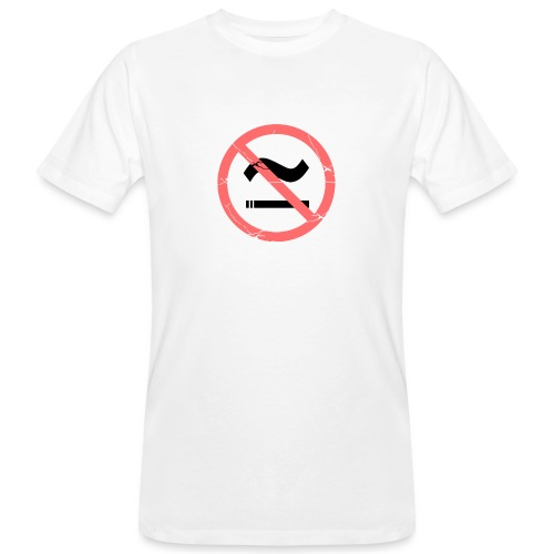 The Commercial NO SMOKING (Salmon) - Men's Organic T-Shirt