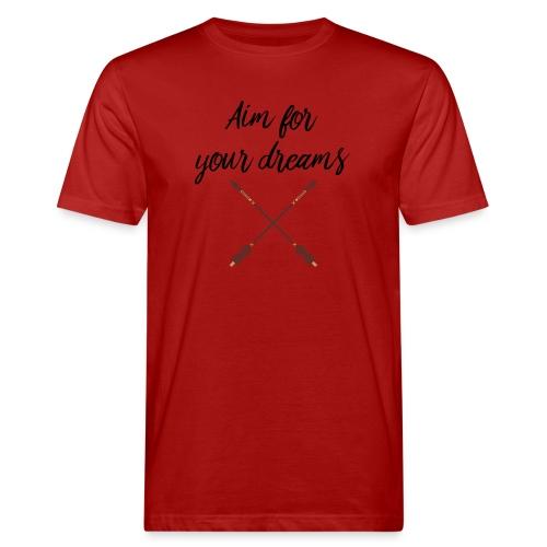 Aim for your Dreams - Miesten luonnonmukainen t-paita