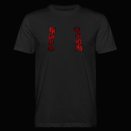 zeez rouge ombre noir abimé - T-shirt bio Homme
