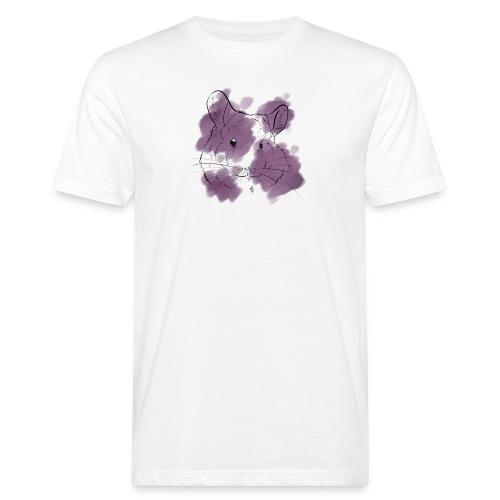 Violet splash chinchilla - Miesten luonnonmukainen t-paita