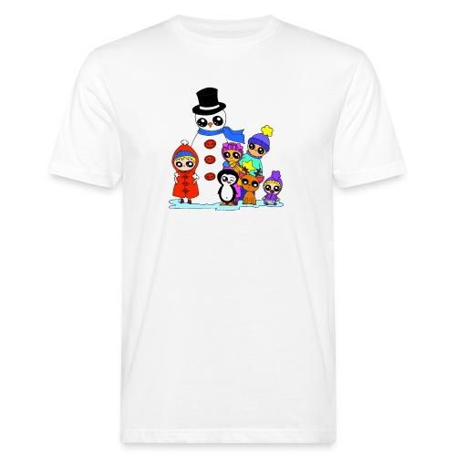 Les copains kawaii en hiver - T-shirt bio Homme