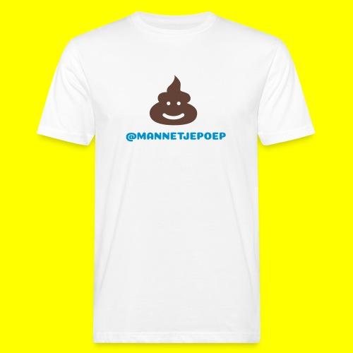 Mannetje Poep Shit - Mannen Bio-T-shirt