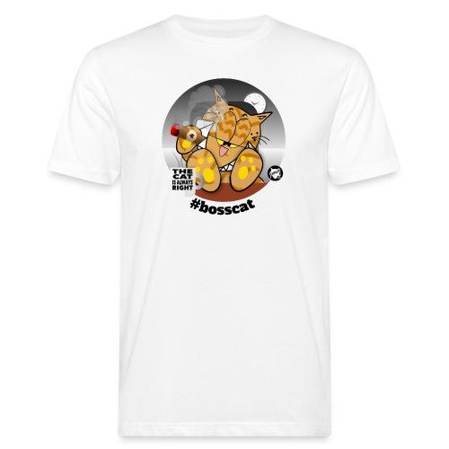 #bosscat - Männer Bio-T-Shirt