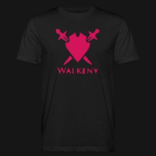 Das Walkeny Logo mit dem Schwert in PINK! - Männer Bio-T-Shirt