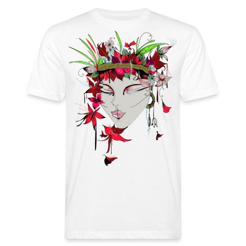 Margret Marincolo Blumenmädchen - Männer Bio-T-Shirt