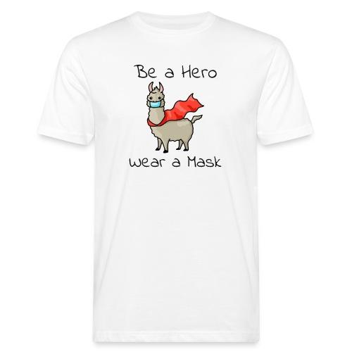 Sei ein Held, trag eine Maske - fight COVID-19 - Männer Bio-T-Shirt