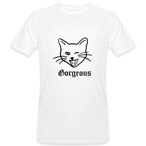 gorgeous cat - Mannen Bio-T-shirt