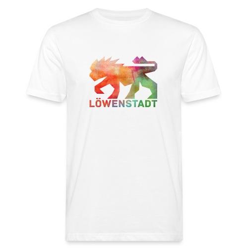 Löwenstadt Design 5 - Männer Bio-T-Shirt