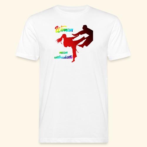 woman mean unbreakable - T-shirt ecologica da uomo