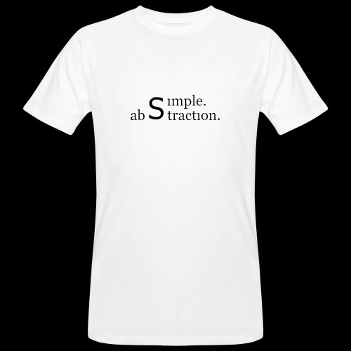 simple. abstraction. logo - Männer Bio-T-Shirt