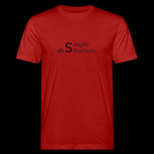 simple. abstraction. logo - Männer Bio-T-Shirt