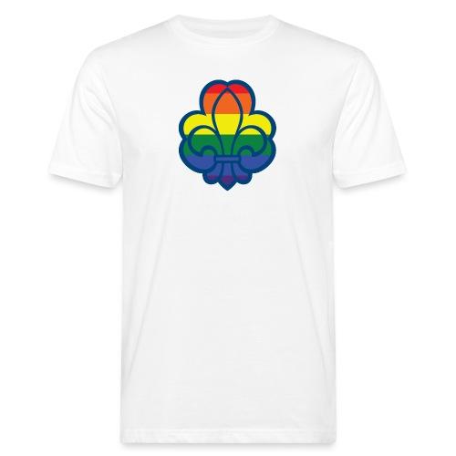 Regnbuespejder hvide t-shirts - Organic mænd