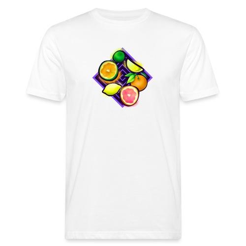 Citrus Pop Art - Männer Bio-T-Shirt