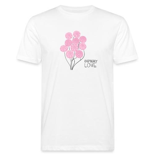 Himbeerbonbon Blumenstrauß - Männer Bio-T-Shirt