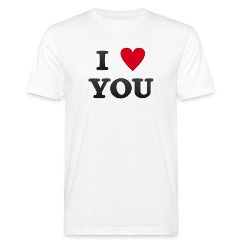 I love you - Økologisk T-skjorte for menn